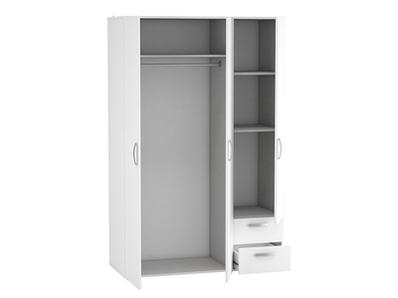 Armoire 3 portes 2 tiroirs Lola