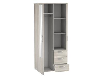 Armoire 2 portes 3 tiroirs Mira