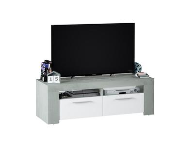 Meuble tv Aura blanc/béton