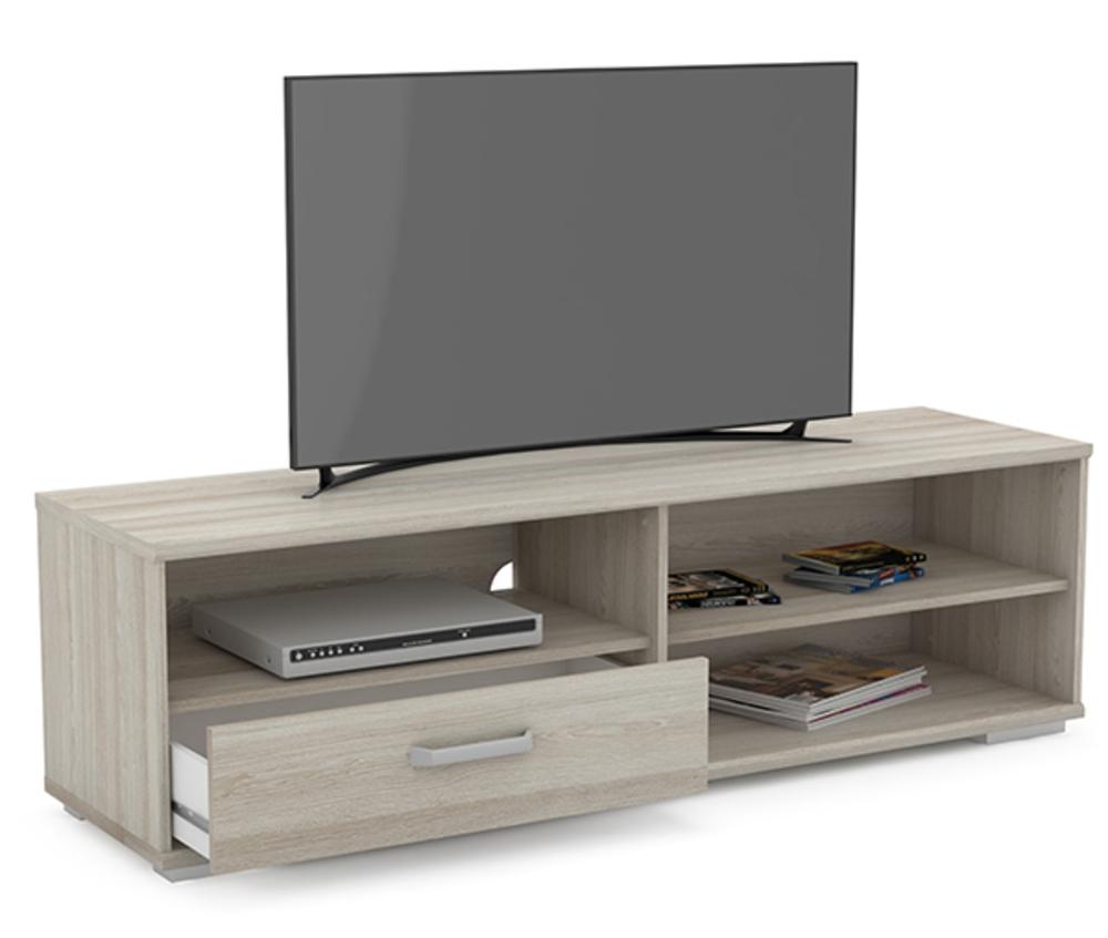 Meuble Tv Hifi Intégré meuble tv santos chene shanon