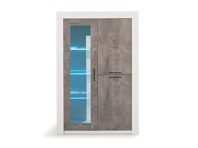 Vitrine 2 portes avec leds