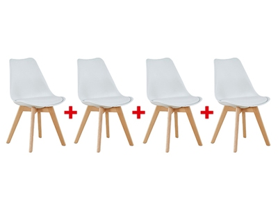 Lot de 4 chaises Beech