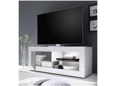 Meuble tv Costa blanc brillant/béton