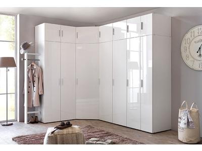 Armoire 2 portes Malta laqué blanc cassé/ blanc