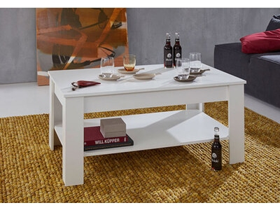 Table basse double plateau