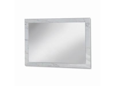 Miroir Mary blanc marbré brillant