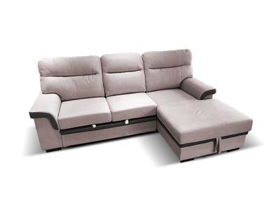 Canapé d'angle à droite convertible