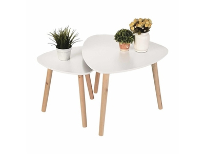 Lot de 2 tables gigognes Kiala