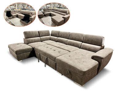Canapé d'angle à droite en forme de u Capri