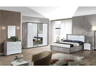 Armoire 4 portes avec éclairage Milan