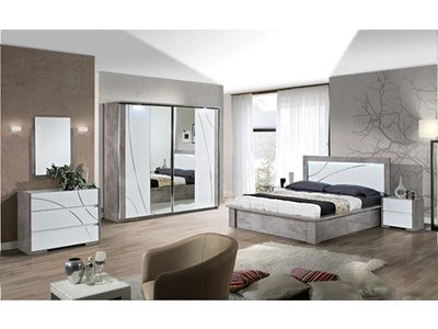 Armoire 5 portes avec éclairage Milan