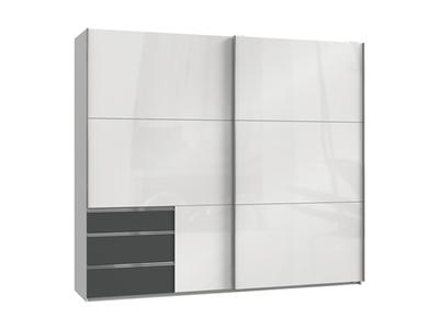 Armoire 2 portes coulissantes+3 tiroirs