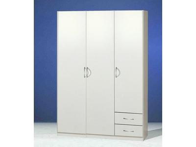 Armoire 3 portes+ 2 tiroirs Sprint blanc