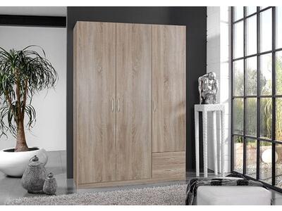 Armoire 3 portes+ 2 tiroirs Sprint chene