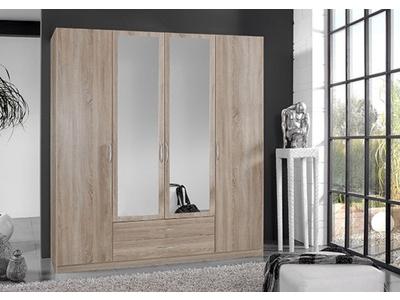 Armoire 4 portes dont 2 miroirs