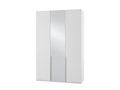 Armoire 3 portes dont 1 miroir New york blanc