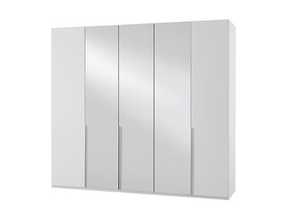 Armoire 5 portes dont 3 miroirs New york blanc