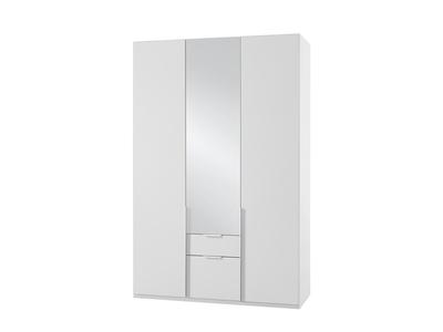 Armoire 3 portes dont 1 miroir+2 tiroirs New york blanc