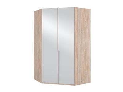 Armoire d'angle 2 portes miroir New york chene.