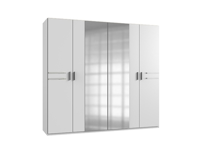 Armoire Susan blanc/chrome brillant