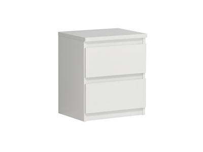 Chevet 2 tiroirs Chelsea blanc