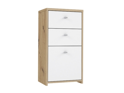 Commode 1 porte 2 tiroirs Best chest chene/blanc