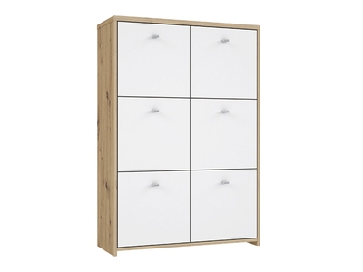 Commode 6 portes Best chest chene/blanc
