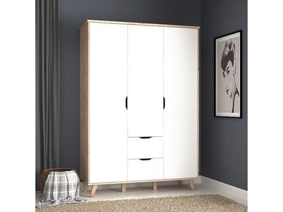 Armoire 3 portes 2 tiroirs Vankka