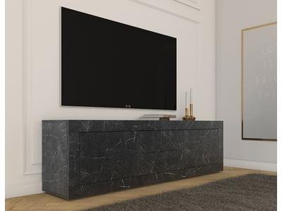 Meuble tv 2 portes 2 tiroirs