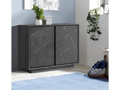 Bahut 2 portes Ice marbre noir