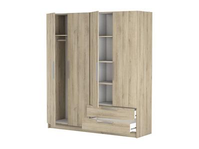 Armoire 4 portes 2 tiroirs Glory