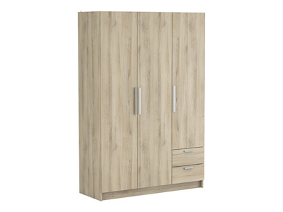 Armoire 3 portes 2 tiroirs Glory