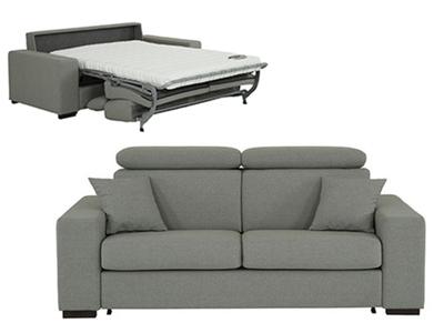 Canapé 3 places convertible bultex option tétières