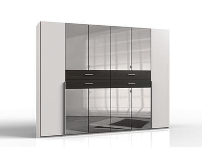 Armoire 8 portes 4 tiroirs avec miroir