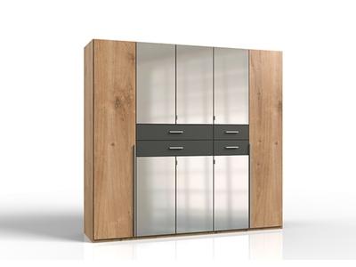 Armoire 8 portes 4 tiroirs avec miroir Dallas