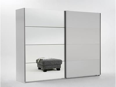 Armoire 2 portes coulissantes dont 1 miroir Ilona