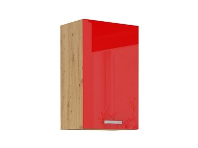 Haut 1 porte Artisan rouge brillant/chene