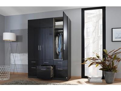 Armoire 3  portes 6 tiroirs Celle gris laqué