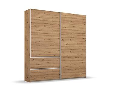 Armoire 2 portes coulissantes 2 tiroirs Oeste