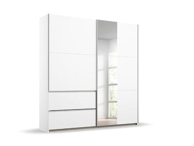 Armoire 2 portes coulissantes miroir 2 tiroirs Oeste
