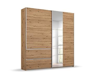 Armoire 2 portes coulissantes miroir 2 tiroirs