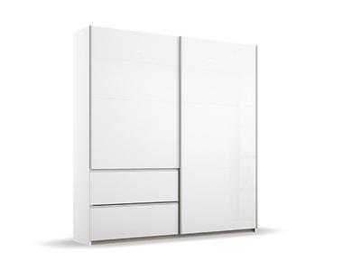 Armoire 2 portes coulissantes 2 tiroirs laquée