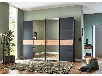 Armoire 4 portes coulissantes avec miroir