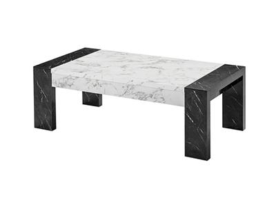 Table basse Vittoria marbre blanc/marbre noir
