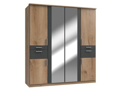 Armoire 4 portes 4 tiroirs