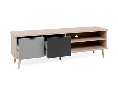 Meuble tv 2 tiroirs et 2 niches Pik