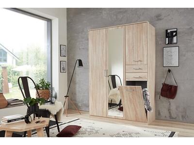 Armoire 3 portes 2 tiroirs 1 porte corbeille Frankfurt